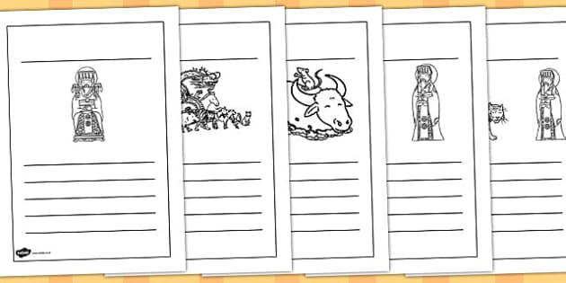 Chinese New Year Story Writing Frames - australia, writing frames