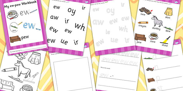 Phase 5 ew pew Grapheme Workbook - phase five, graphemes, phases