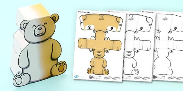 3D Teddy Bear Activity - 3d, teddy, bear, activity, teddy bear