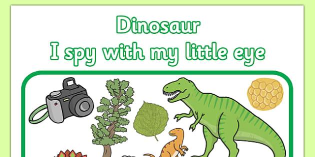 Dinosaur Themed I Spy With My Little Eye Activity - dinosaur