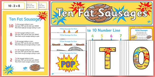 Ten Fat Sausages Ready Made Display Pack - ten fat sausages, ready made, display pack