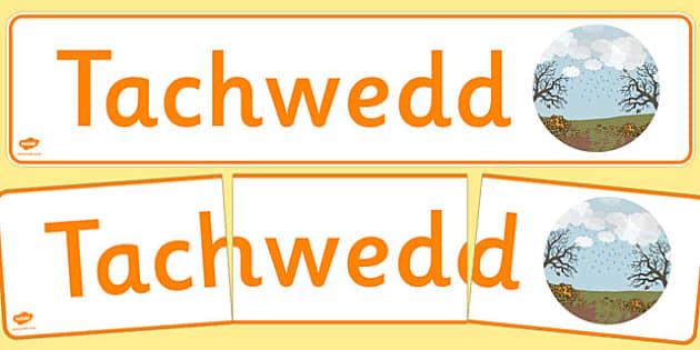 Tachwedd Display Banner Cymraeg - cymraeg, year, months of the year, november