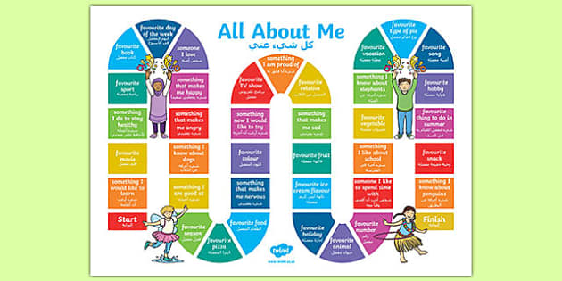 All About Me Board Game Arabic Translation-Arabic-translation