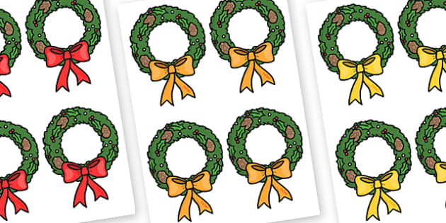 Christmas Wreath Editable - christmas, wreath, display, xmas