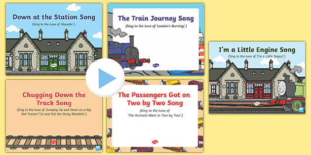 Trains Songs and Rhymes PowerPoints Pack