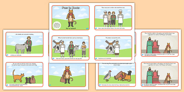 Puss in Boots Story Sequencing 4 per A4 Polish Translation - polish, puss in boots, story sequencing