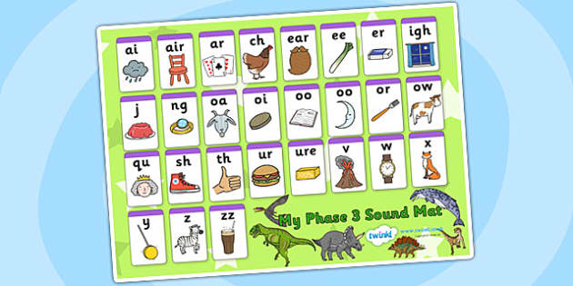 Realistic Dinosaurs Themed Phase Sound Mat - dinosaur, phases