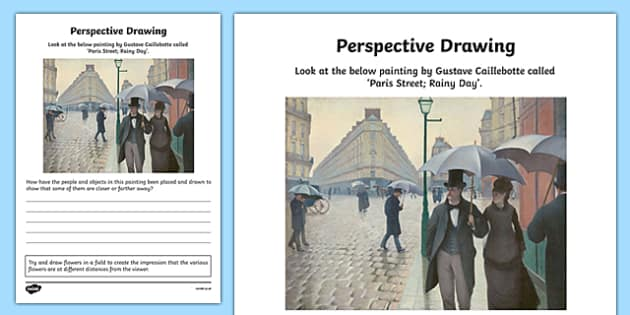 Perspective Drawing Activity Sheet, worksheet