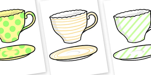 Teacup and Saucer Pattern Matching Activity - alice in wonderland, cups and saucers, pattern matching, alice in wonderland pattern matching, matching