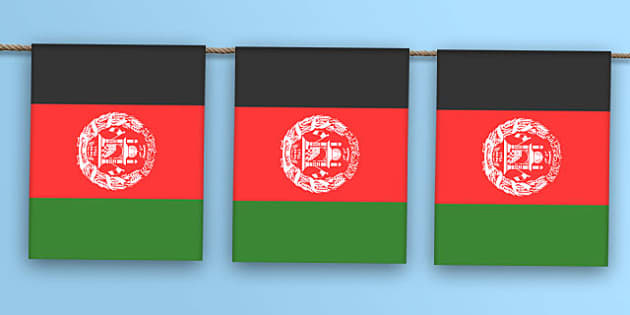 Afghanistan Flag Bunting - afghanistan flag, afghanistan, flag, display bunting, display, bunting