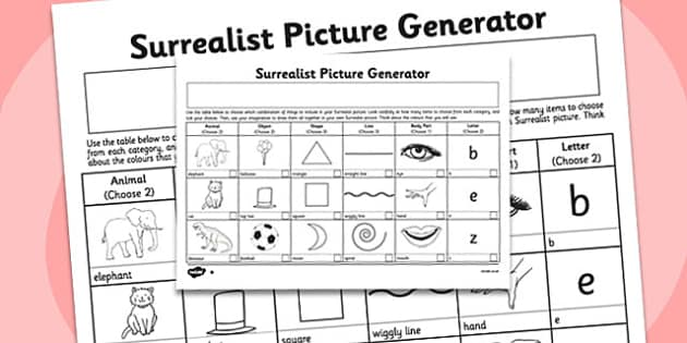 Surrealist Picture Generator - surrealist, picture, generator