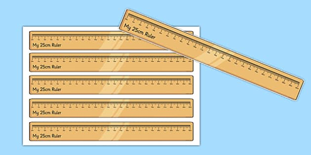 25 Centimetre Ruler Cut Outs - 25 centimetre, ruler, cut outs, centimetre, display