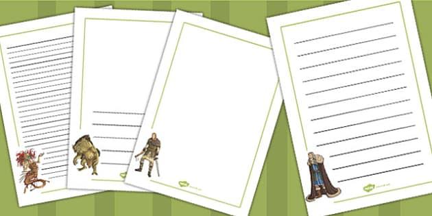 Beowulf Page Borders - beowulf, page, borders, page borders, ks2