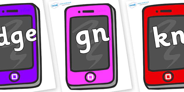 Silent Letters on Mobile - Silent Letters, silent letter, letter blend, consonant, consonants, digraph, trigraph, A-Z letters, literacy, alphabet, letters, alternative sounds