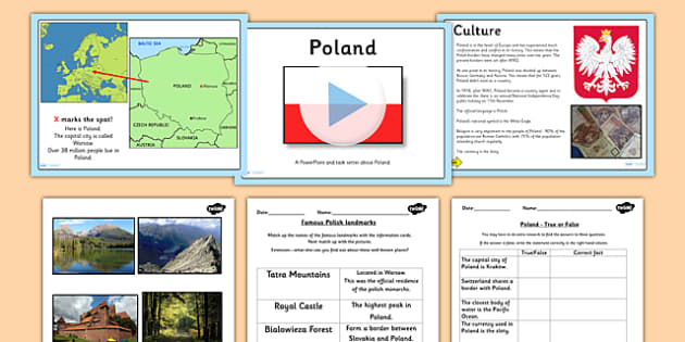 Poland Lesson Teaching Pack - countries, geography, country