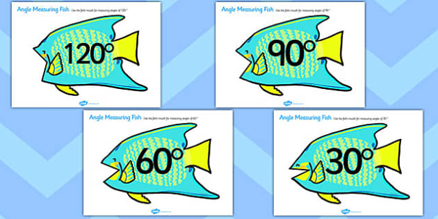 Angle Measuring Fish - angle measuring, measuring angles, angles, measuring, angles on fish, measuring on fish