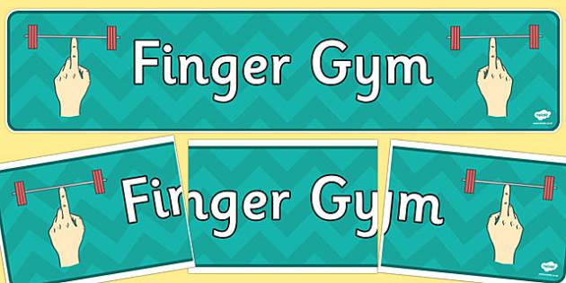 Finger Gym Display Banner - finger gym, display banner, display