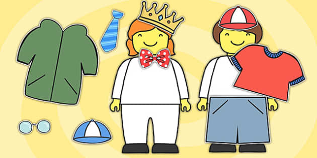 Toy Person Dress Up Activity - dress up, dress up games, toys