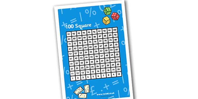Reversed 100 Square - reverse 100 square, 100 numer square, 100 square, reverse 100 square, 100-1 square, multiplication aid, subtraction aid, ks2 numeracy
