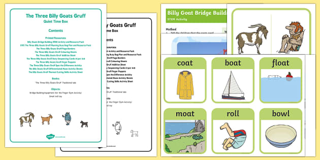 EYFS The Three Billy Goats Gruff Quiet Time Box-Australia
