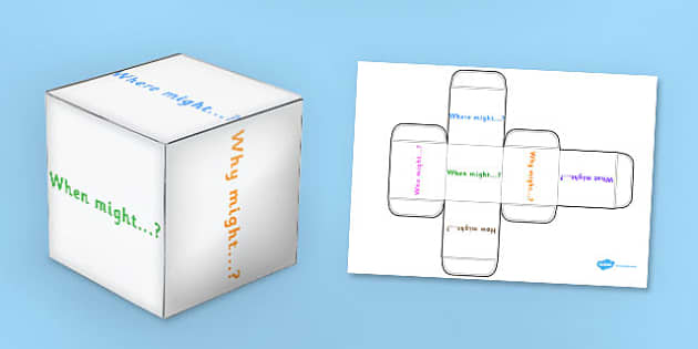 Imagination Prompt Questions Dice Net - imagine, dice, board games, games, dice games