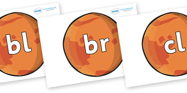 Initial Letter Blends on Mars - Initial Letters, initial letter, letter blend, letter blends, consonant, consonants, digraph, trigraph, literacy, alphabet, letters, foundation stage literacy