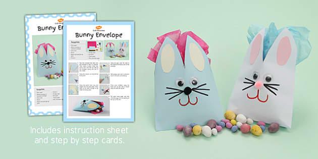 Bunny Envelope Craft Instructions - bunny envelope, craft, bunny