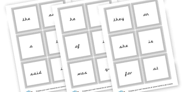High Frequency Words Flashcards - High Frequency Words Visual Aids Primary Resources, letters, frquency
