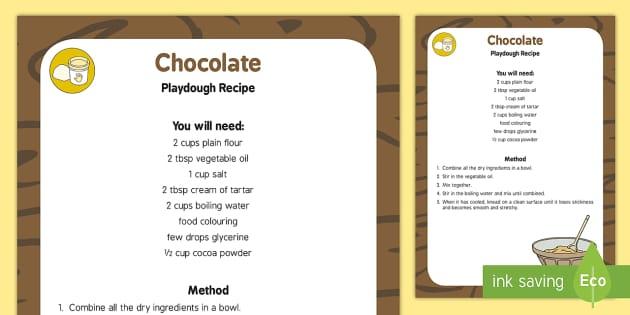Chocolate Playdough Recipe - chocolate, playdough, recipe, eyfs