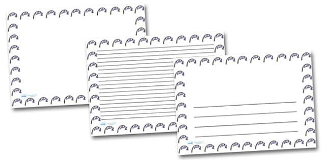 Bluebells Flower Landscape Page Borders- Landscape Page Borders - Page border, border, writing template, writing aid, writing frame, a4 border, template, templates, landscape