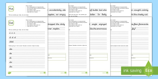 Year 5 and 6 New Zealand Cursive Handwriting Activity Sheets - New Zealand Handwriting ResourcesCursive handwritingYear 5Year 6handwriting practice