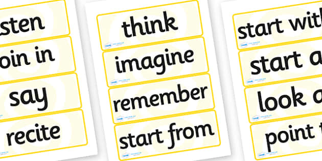 Year 2 Maths Vocabulary Word Cards Instructions - maths, maths word cards, year 2 maths word cards, year 2 maths, maths instruction words, numeracy