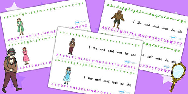 Beauty and the Beast Alphabet Strips - traditional tales, a-z