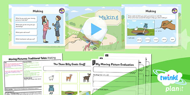 PlanIt - Design and Technology KS1 - Moving Pictures: Traditional Tales Lesson 6: Making