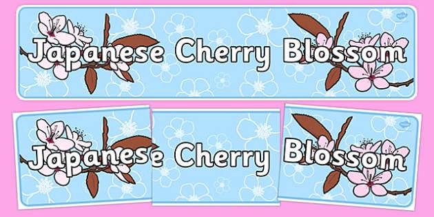 Japanese Cherry Blossom Display Banner - japanese, cherry blossom, display banner, display, banner, cherry, blossom