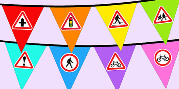 Road Safety Week Bunting - displays, display, visuals, visual