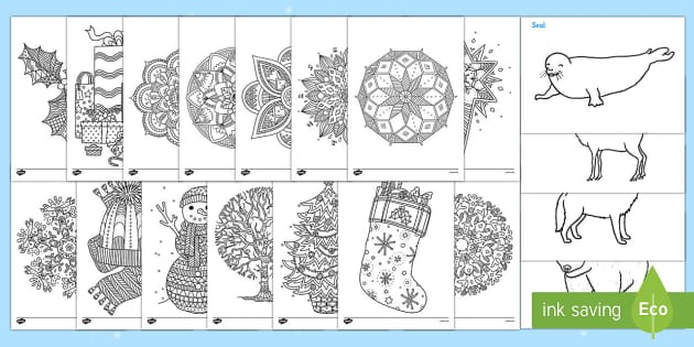 Winter Colouring Resource Pack - Adult Colouring, Themes, Art, Display, Ideas, Support, Activity Co-ordinators, Elderly care, Care Ho