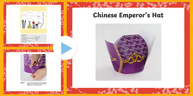 Chinese Emperor's Hat Craft PowerPoint - craft, chinese, emperor