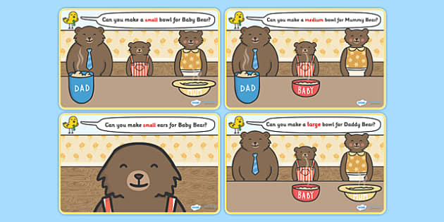 Goldilocks and the Three Bears Playdough Mat - Goldilocks and the Three Bears, playdough, mat, traditional tales, tale, fairy tale, three bears, porridge, cottage, beds, flashcards