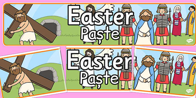 Easter Display Banner Romanian Translation - displays, banners