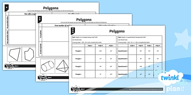 PlanIt Y6 Properties of Shape Geometric Shapes Home Learning Tasks - Properties of Shape, 2D shapes, geometric shapes, comparing shapes, classifying shapes, quadrilatera