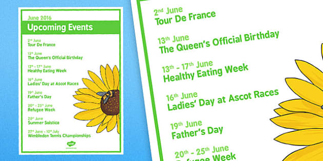 Elderly Care Calendar Planning June 2016 Overview - Elderly Care, Calendar Planning, Care Homes, Activity Co-ordinators, Support, June 2016