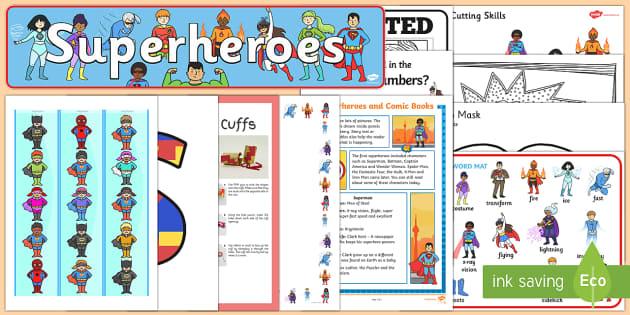Superheroes Resource Pack - Superhero, super hero, batman, spiderman, the hulk, iron man, masks, display