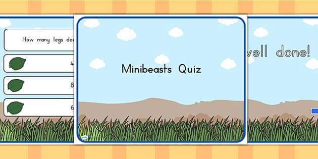 Minibeasts Quiz PowerPoint - quizzes, games, classroom quizzes