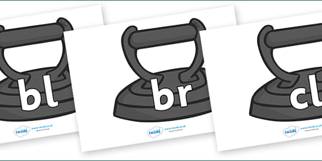 Initial Letter Blends on Irons - Initial Letters, initial letter, letter blend, letter blends, consonant, consonants, digraph, trigraph, literacy, alphabet, letters, foundation stage literacy