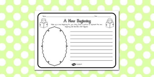 A New Beginning Comprehension Worksheet - australia, beginning