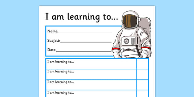 Themed Target and Achievement Sheets Space Themed - Target and Achievement, Target and Achievement Sheet, Target Sheet, Space Themed