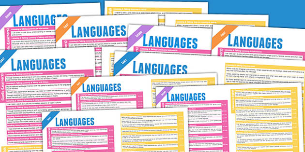 Scottish Curriculum For Excellence Languages Overview Posters