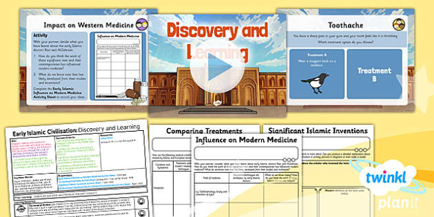 PlanIt - History UKS2 - Early Islamic Civilisation Lesson 3: Discovery and Learning Lesson Pack - learning, Razi, medicine, surgery, Al-Zahrawi, Islam
