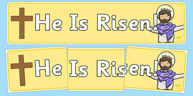 He is Risen Easter Display Banner - easter, christianity, banner